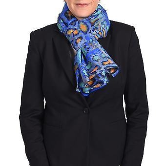 Roberto Cavalli slange Print silke tørklæde blå slange Print