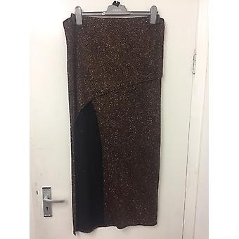 River Island coscia Split Glitter Maxi gonna