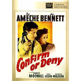 Confirm or Deny [DVD] USA import