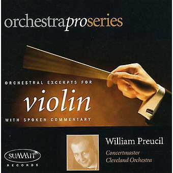 William Preucil - Orchestral Excerpts for Violin [CD] USA import