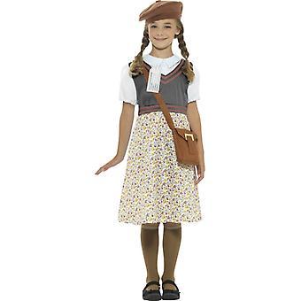Retro skolepike kostyme uniform