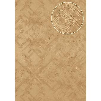 Graphic wallpaper Atlas SIG-581-1 non-woven wallpaper textured with abstract pattern m2 shimmering beige brown beige grey beige silver grey 5.33