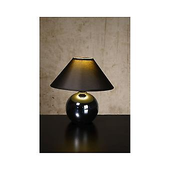 Lucide FARO Table Lamp Ceram. H21cm Pearl Black