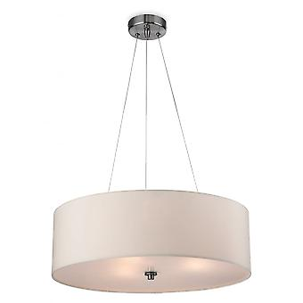 Firstlight Modern Cream Drum Shade Suspended Ceiling Light Fitting