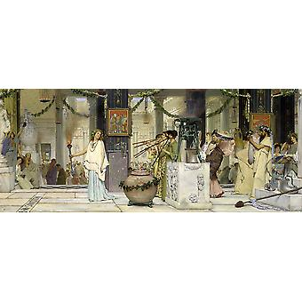 Lawrence Alma Tadema - The vintage festival Poster Print Giclee