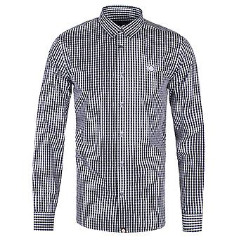 Pretty Green Francis Black Gingham Long Sleeve Shirt