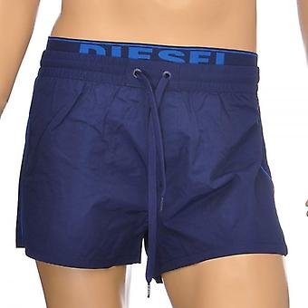 DIESEL BMBX Seaside E Logo Waistband Swim Shorts, Blue, Small