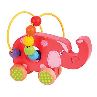 Bigjigs Toys Elephant Push Along Bead Frame