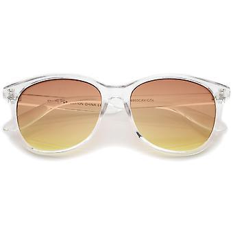 Moderne duidelijk Frame kleurovergang vlakke Lens hoorn omrande zonnebril 55mm