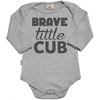 Spoilt Rotten Brave Little Cub Organic Baby Grow