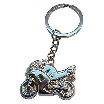 Bassin and Brown Motorbike Key Ring - Silver