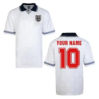 Score Draw England World Cup 1990 Home Shirt (Your Name)