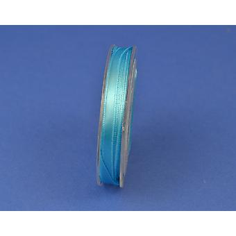 7mm Polyester Satin Craft Ribbon - 10m Reel - Turquoise