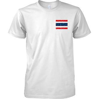 Tajlandia zakłopotany Grunge efekt flaga Design - dzieci piersi Design T-Shirt