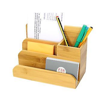 Woodquail Bambus kleiner Schreibtisch Veranstalter Stifthalter