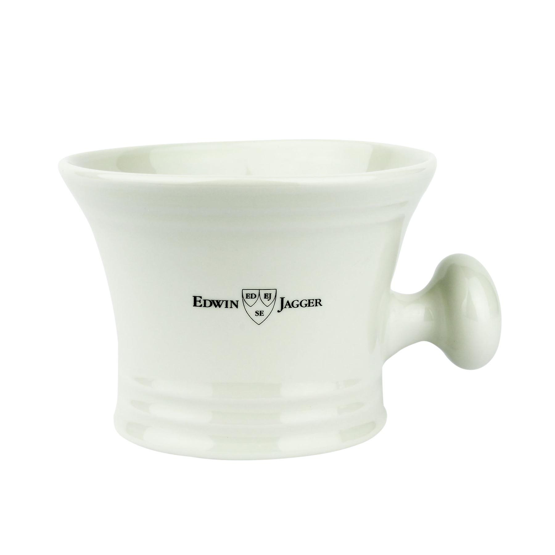 Edwin Jagger Ivory Porcelain Shaving Bowl with Handle RN47