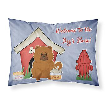 Dog House Collection Chow Chow Red Fabric Standard Pillowcase