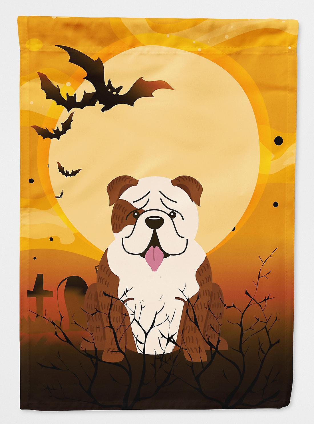 Halloween anglais Bulldog bringé drapeau blanc Taille du canevas maison