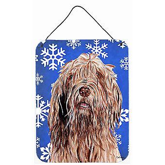Otterhound Winter Snowflakes Wall or Door Hanging Prints