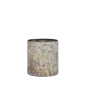 Light & Living Tealight Ø10x11 Cm GHISAI Matted White-copper Rust