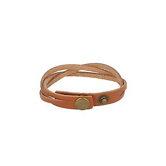 Baxter jewelry London leather bracelet braided Brown Schmuck snap closure 21.5 cm