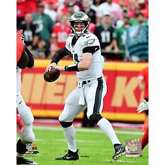 Carson Wentz 2017 Action Photo Print
