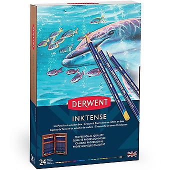 Derwent Inktense crayons 24 boîte en bois