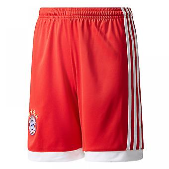 2017-2018 Bayern Monaco Adidas Home Shorts (Red) - bambini