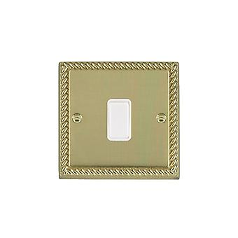 Hamilton Litestat Cheriton Georgian Polished Brass 1g 20AX DP Rocker WH/WH