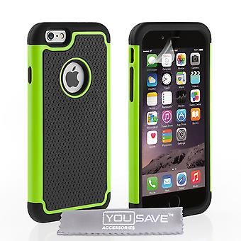 iPhone 6s Grip Combo Silicone Case - Green-Black