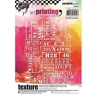 Carabelle Studio Art Printing A6 Rubber Texture Plate-Printed Numbers AP60003