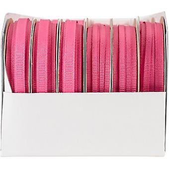Gewoon Grosgrain Boxed lint assortiment 24/Pkg-Shocking Pink 56567424