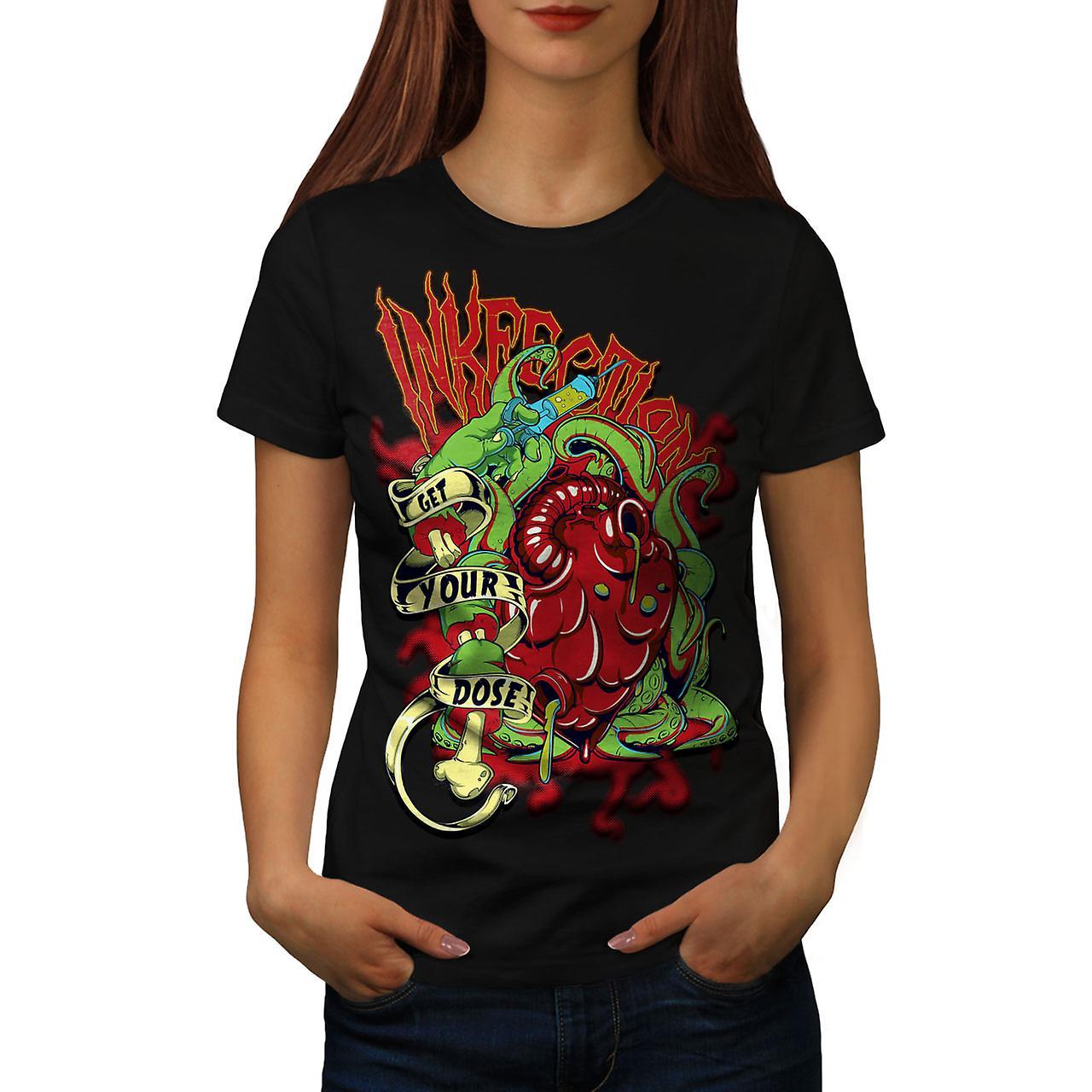 Get Your Dose Dead Horror Women Black T-shirt | Wellcoda