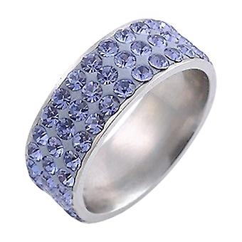 Stainless Steel Ring With Rhinestones Rt2306