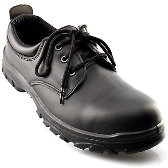 Mens New Composite Safety Non Metal Lace Up Non Slip Work Boots Shoes