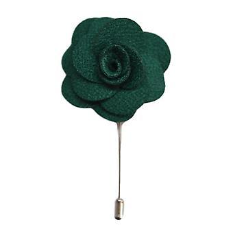 Groene handgemaakte bloem/Rose revers Pin voor het dragen met mannen pak jasje, blazer, diner jacket of Smoking jasje