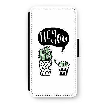Huawei P8 Lite (2015-2016) Flip Case - Hey you cactus