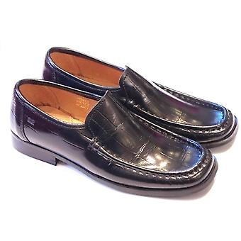 Step 2wo Timothy Black Shiny Leather Slip On