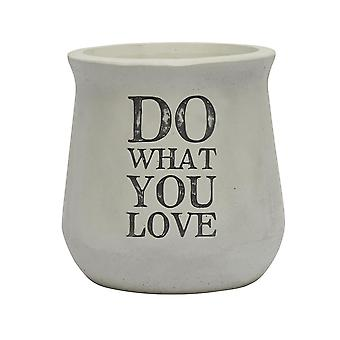 'Do What You Love' Concrete Planter