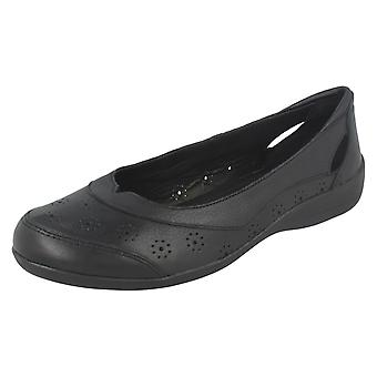 Ladies Padders Cut Out Ballerina Flats Demi 2