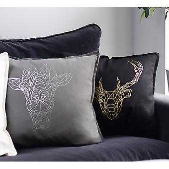 Geometric Animal Metallic Cushions