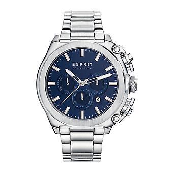 Esprit Collection Herren Uhr Armbanduhr Chrono Tityo Edelstahl EL102181006