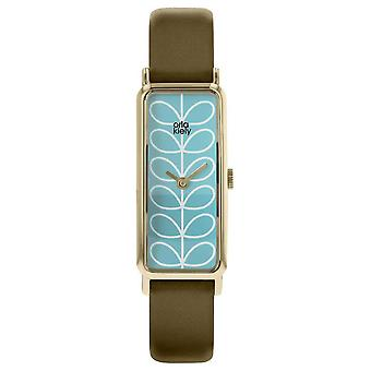 Orla Kiely Orla Kiely Women's Rectangular Stem Print Leather Strap OK4074 Watch
