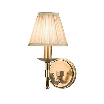 Stanford Antique Brass Single Wall & Beige Shade 40w