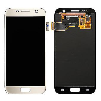 Genuine Samsung Gold S7 G930 LCD Assembly Service Pack