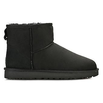 UGG Womens Black Classic Mini II Sheepskin Boots