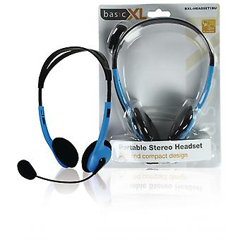 basicXL Portable stereo-headset blue