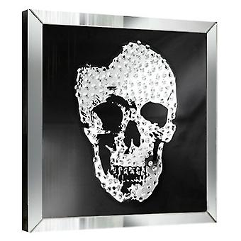 Wellindal Skull Mirror Showcase, 60X60 (Decoratie , Schilderijen)