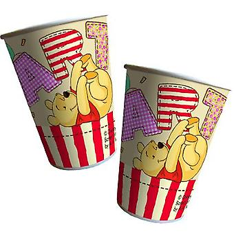 Winnie the Pooh Winnie the Pooh party Cup drinking cups 200ml 8 piece children birthday theme party