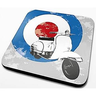 Mod Scooter With Target Cork Backed Drinks Mat / Coaster